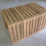 Coffee table - Pine interlocked style