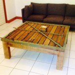 Coffee table - reclaimed wood and frame