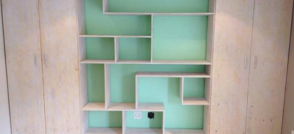 Cupboard and shelving wall to wall set