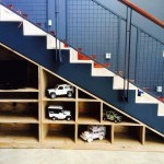 Custom Shelving under stair case