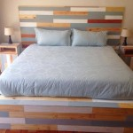 Headboard - side tables reclaimed pine set