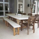 Patio Dining Table Solid Kiatt base Concrete Top