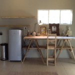 Kitchen Trestle and Shelves