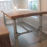 Table with metal pipes