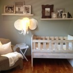 White Washed Nursery Crib