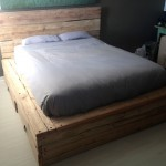 Scaffold Plank Bed Base and Headboard