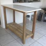 Serving Table with white granite top