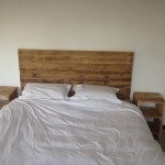 Pallet Wood Headboard and Side tables
