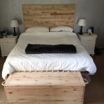 Pallet Wood Headboard and base set