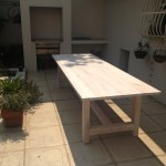 Whitewashed Saligna Dining/Patio Table