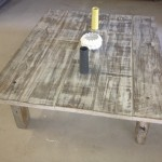 Reclaimed door coffee table