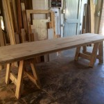 Large Chunky Trestle Table