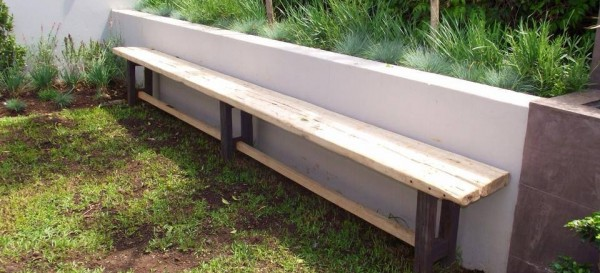 Old weathered bench