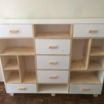 Pine shelving and drawer combo set