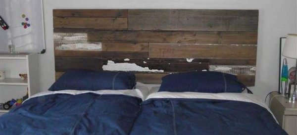 Reclaimed wood - headboard