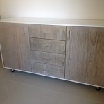 SIDE SERVER CABINET light pine grey wash