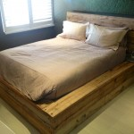Scaffold Plank Bed Base and Headboard 2