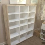 Shelving unit reclaimed pallet wood sprayed  satin white finish