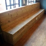 Weathered Crating Pine Bench