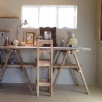 Weathered Pine Trestle table and Chair