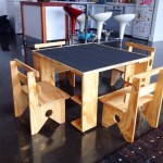 childrens play table with chalk feature 2