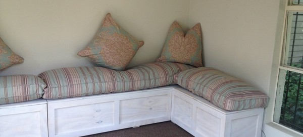 country cottage storage benches