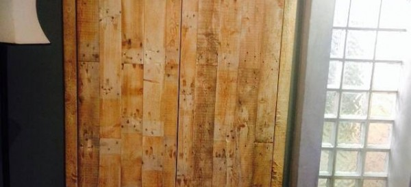 cupboard doors Weathered pallet wood
