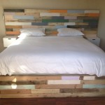 Multi Wood Panel Headboard and base